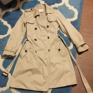 Banana Republic long tan coat